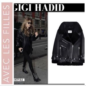NEW AVEC LES FILLES Leather Oversized JACKET Coat